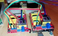 Example of running two CNC shields (one as clone) with one Arduino